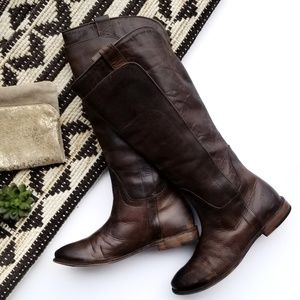 Frye Paige Tall Riding Boot in Brown